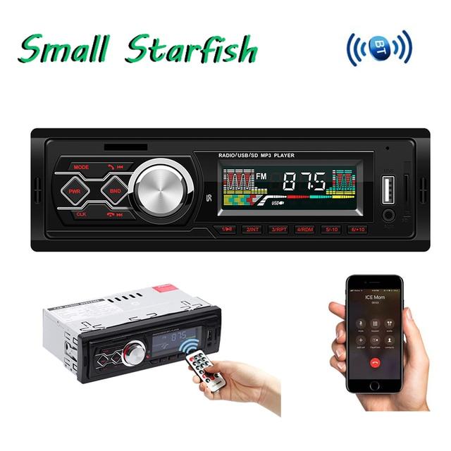 Us 19 96 25 Off 1 Din Car Radio 12v Car Modified Retro Style Bluetooth Fm Car Radio Mp3 Player Stereo Usb Aux Classic Car Handsfree Phone Calls In