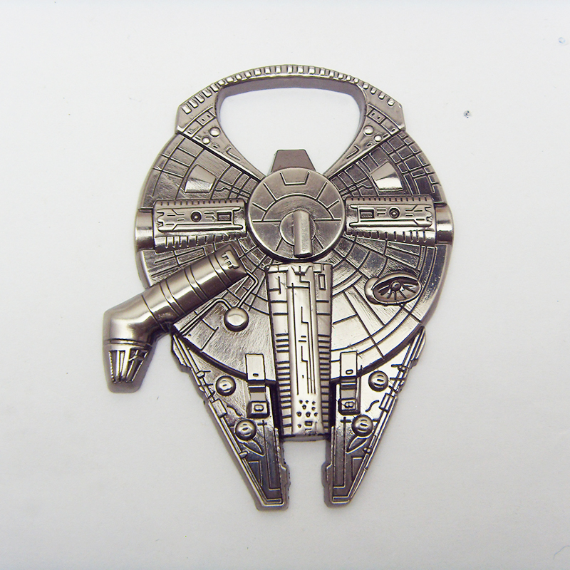 High Quality Star Wars Millennium Falcon Beer Bottle Opener Accessories Alloy Spacecreft Star Wars Bottle Opener Key Chain Gift