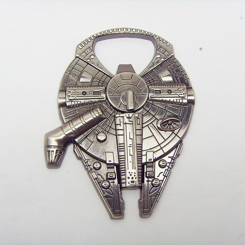 High Quality Star Wars Millennium Falcon Beer Bottle Opener Accessories Alloy Spacecreft Star Wars Bottle Opener Key Chain Gift