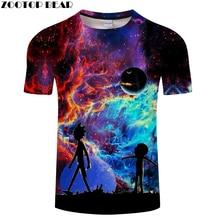 Rick and Morty t shirt Galaxy tshirt Men t-shirt 3D Tops&