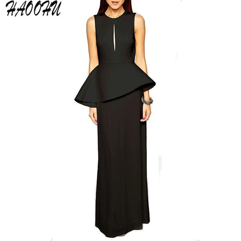 2016 Autumn and Winter Women Brief style dresses vestidos Elegant O-neck  Collar Hollow Peplum. US  15.39. (1). 2 orders. Adyce Celebrity Evening  Party Dress ... 9518bf46f425