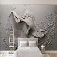 3d three-dimensional embossed beauty background wall professional custom mural wholesale wallpaper poster photo