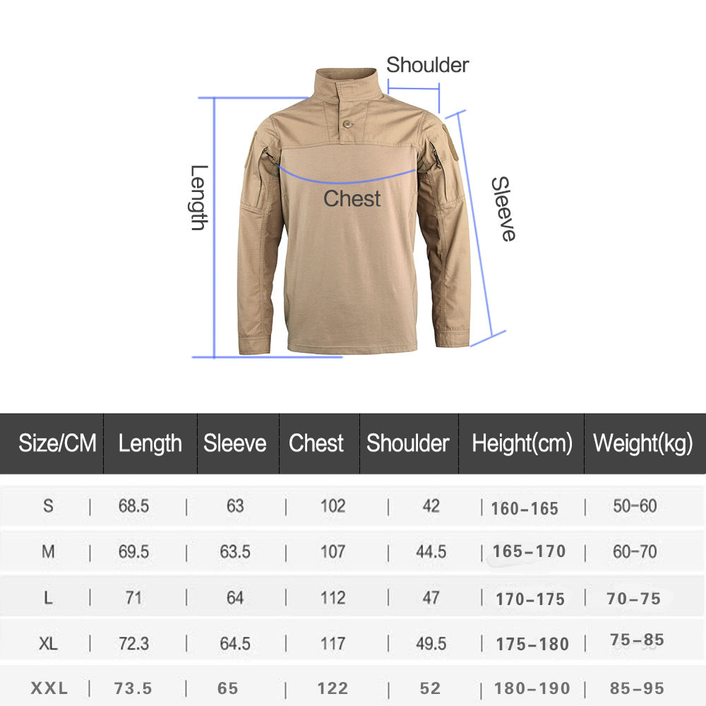 Hunting Army Men Long Sleeve T-Shirt Military Assault Combat Men's Camouflage Assault Tactical T-Shirts