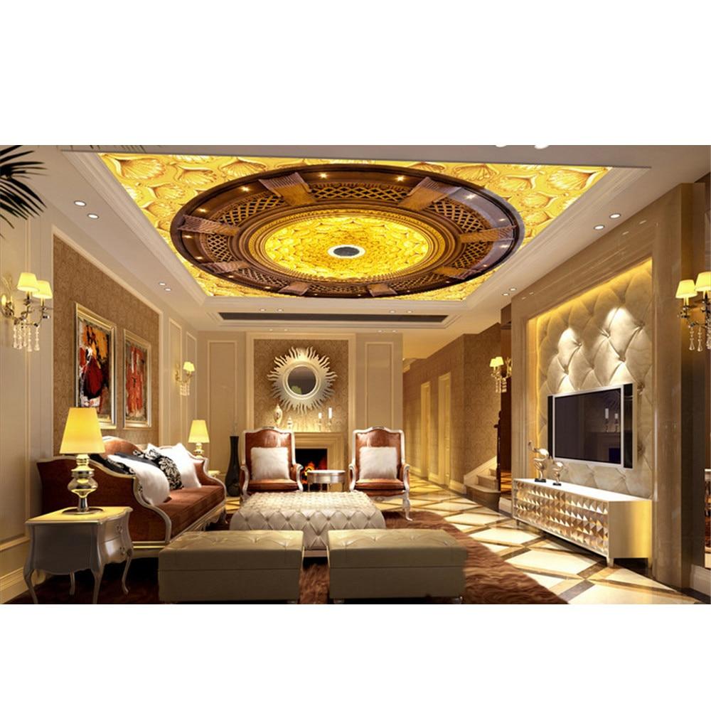 Diy Retro Custom 3d Ceiling Wallpaper Unique Art Decal For