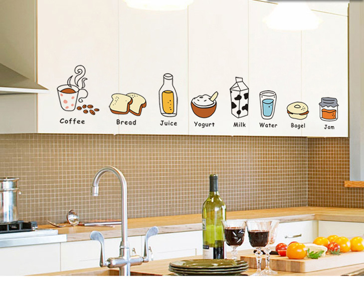 Wall Sticker Logo The Kitchen Cabinets Restaurant Fridge Magnets Fun Personality Can Be Removed In Stickers From Home Garden On