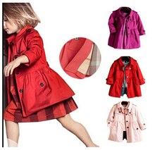 Новая Мода Осень Ребенка Девушка Одежда Англия Стиль Пальто Куртки Детей И Пиджаки Одежду