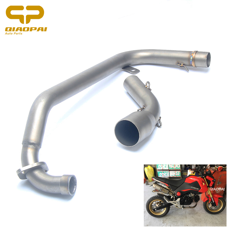 Motorbike Exhaust System Front Pipe Muffler Slip On Exhaust Pipe Motorcycle Escape Connect Accessories For Honda grom 125 MSX125