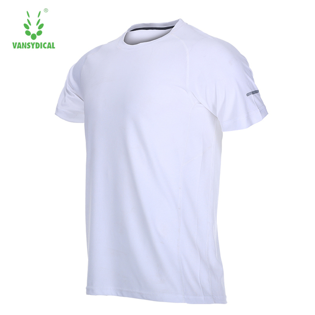 6a1cd8d65 US $9.58 39% OFF|Vansydical Fitness Men Running T Shirt Comfort Breathable  Quick Dry Polyester T Shirt Short Sleeve Sports Tees Tops Sportswear-in ...