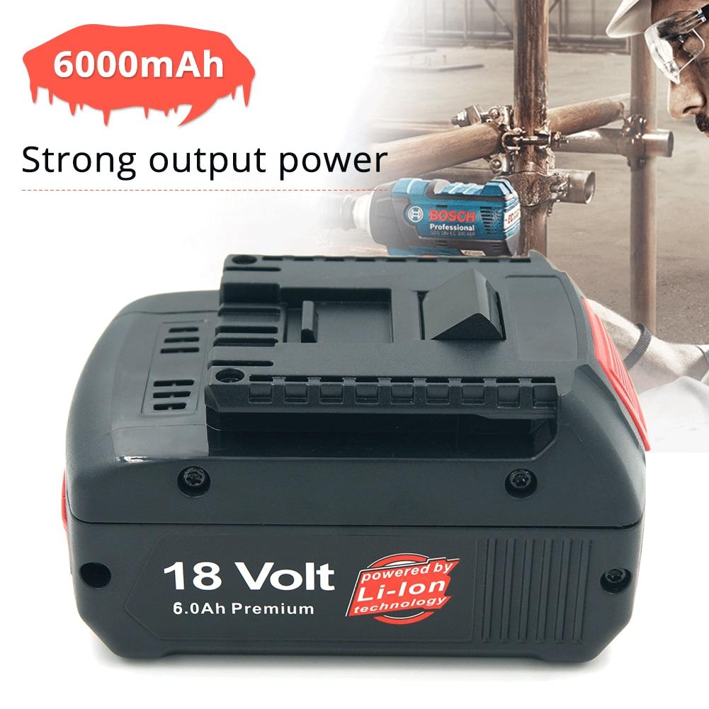 6000 mAh 18 V Li Ion batterie Rechargeable pour Bosch BAT622 BAT609 BAT618 BAT619G perceuse sans fil