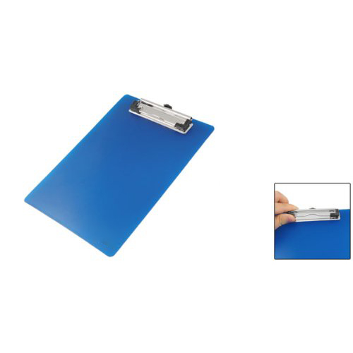 Affordable Practial Office Lab A5 Paper Holding File Clamp Clip Board Writting Report Pad Blue Office School Stationary