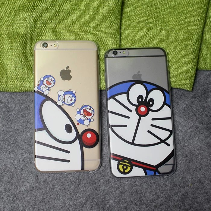 10 pcs/lot Doraemon Case For Coque iPhone 5 5s se 6 6s 6plus 7 7plus Cases TPU Silicone Clear Back Covers Funda Capinha Hoesjes