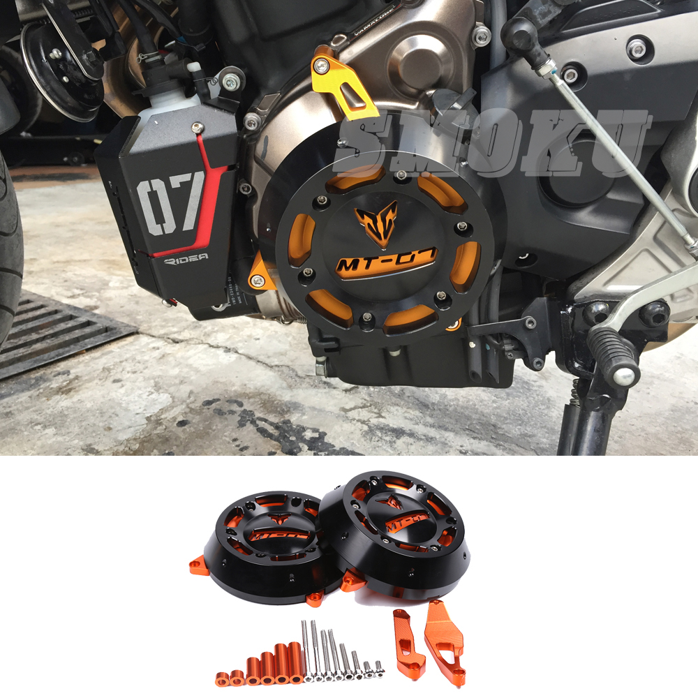 FZ07 MT 07 CNC Engine Stator Case Cover Engine Protective Cover Protector For YAMAHA MT-07 MT07 FZ-07 FZ 07 2014 2015-2017 цены онлайн