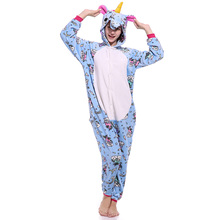 2018 New Style Winter Adult Unisex Fly Pegasus Flannel Costume Hooded Pajamas Sets Animal Sleepwear Botton/Zipper For Women/Men