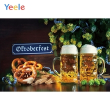 Yeele Oktoberfest Festivals Carnival Party Photo Backgrounds Food Beer Wheat Vinyl Custom Photography Backdrops For Studio