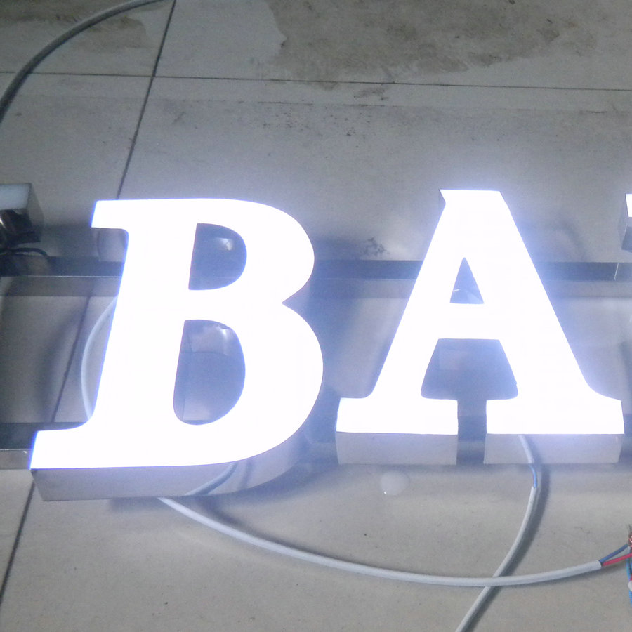 Customized front lit channel letters 3D outdoor advertising illuminated letters light box for Mobile phone shop