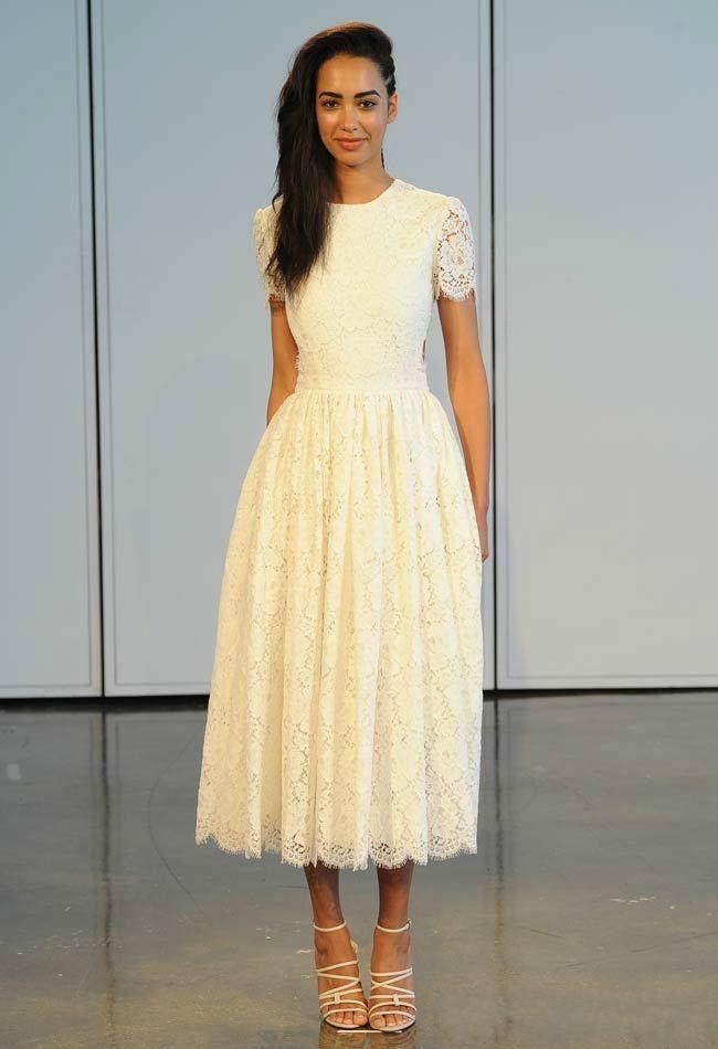 Popular Ivory Tea Length Lace Dress-Buy Cheap Ivory Tea Length ...