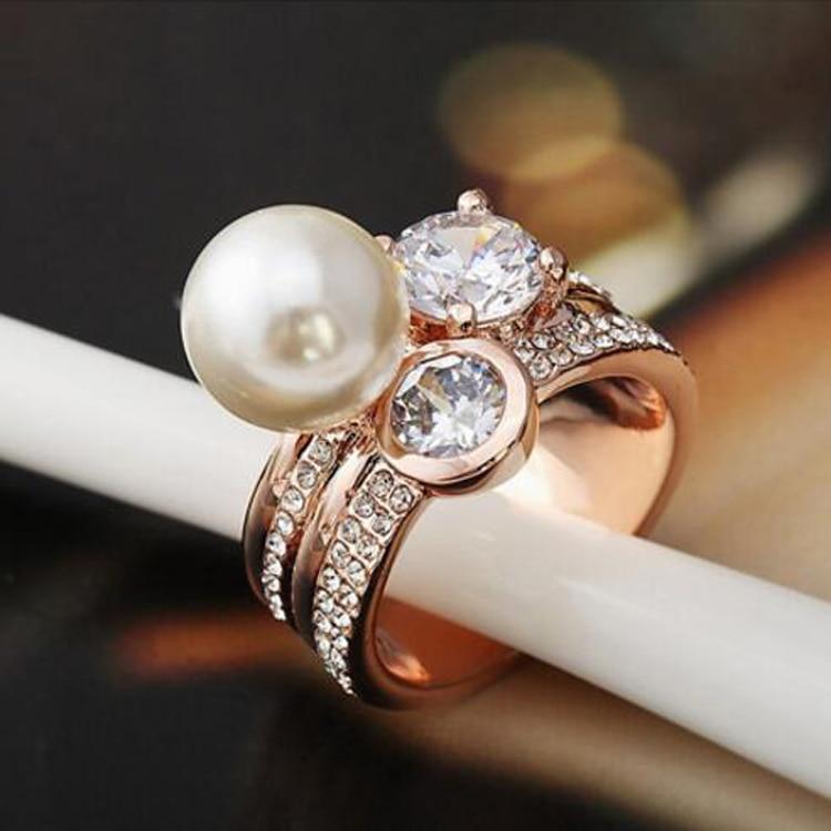2016 супер луксозен кристал CZ W перлен - Модни бижута - Снимка 2