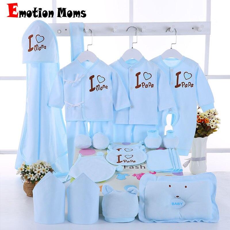 Эмоции мамы 22 шт./компл. Новорожденные Одежда для девочек хлопок От 0 до 6 месяцев младенцев для маленьких девочек комплект одежды для мальчи...
