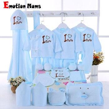 Emoción mamás 22 unids/set recién nacido bebé niñas ropa de algodón ropa de 0-6months bebés para niñas niños ropa conjunto ropa de bebé set de regalo sin caja