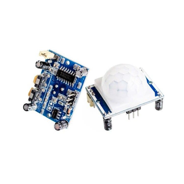 цена на Good quality human Body Infrared PIR Motion Sensor Detector Module HC-SR501