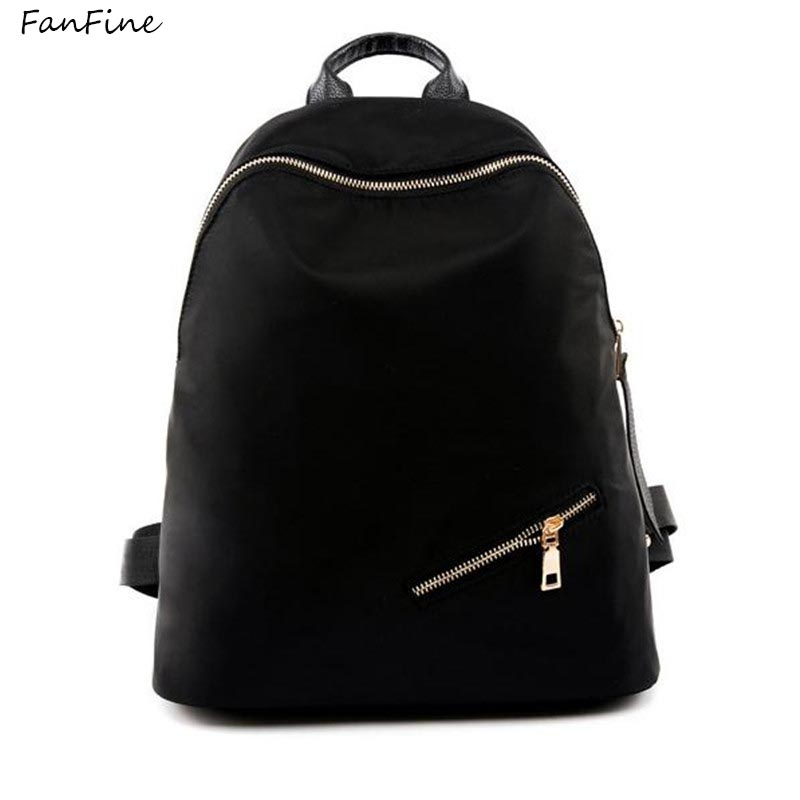 FanFine Fashion Backpack Women Backpacks pu Leather School Bags For Girls Travel Shoulde ...
