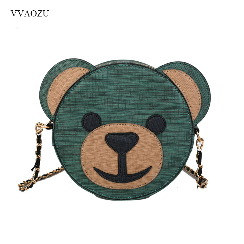 Cute Cartoon Bear Women Hand Bags Female Shoulder Totes Bag Women Handbag PU Leather Messenger Bags bolsa feminina