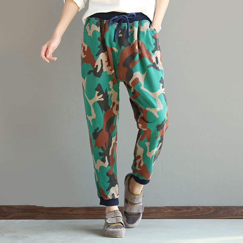 Free shipping 2017 Thin style Camouflage Joggers Elastic Waist pantalon home Men summer long Trousers Track