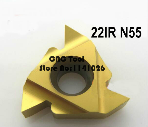 Free Shipping 22IR N 55 Carbide Threading Inserts 55 Deg Internal Threading Tips,Indexable Inserts for Threaded Lathe Holder SNR