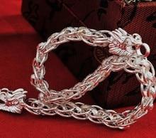 S990 Pure Silver Bracelets & Bangles Mens Bracelets Jewelry Men Hand Chain Kors Bracelet