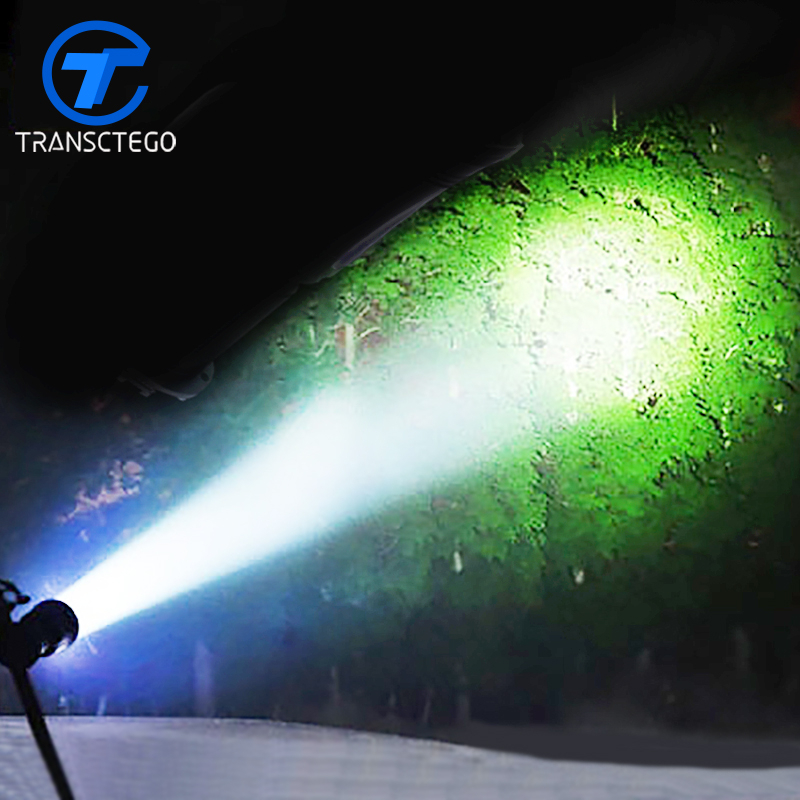 Led Hard Light Searchlight Super Bright Flashlight For Hunting Long Range 500 Meters 1200Lumens Waterproof Torch