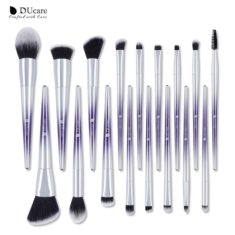 DUcare 17 PCS Makeup Brushes Set Blush Eyeshadow Eyebrow Lip Powder Foundation Make up Brushes Beauty Essentials Cosmetic Tools все цены