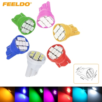 4Pcs High Power T10 194 168 1206 Chip 8SMD Wedge Base Car 8 LED Light Bulbs 7-Color #FD-2615 image
