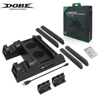 DOBE Vertical Cooler Stand For Xbox ONE/S/X Cooler Cooling Fan With 2×600mAh Batteries Dual Charger Controller Stands IV X0011.