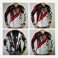FOX T-shirt Cross Country off-road mountain bike DH roupas transpiração wicking T-shirt por atacado