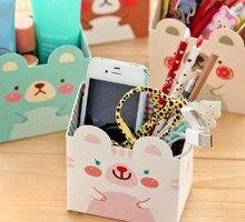 fashion cute cartoon animal rabbit desktop storage box pen holders Stationery Holders kawaii Mini Cosmetic storage box