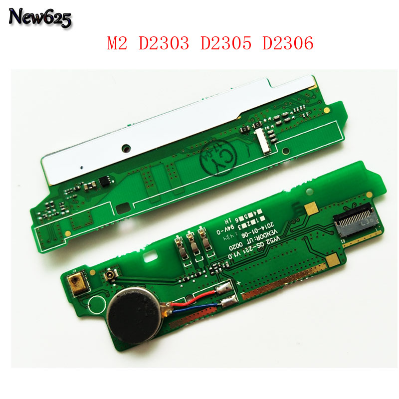 New For Sony Xperia M2 D2303 D2305 D2306 / M2 Dual D2302 Mic Microphone Board Motor Vibrator Flex Cable