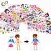 Dessin animé habiller autocollants 3D autocollants marque de mode enfants enfants filles garçons PVC autocollants bulle autocollants jouet GYH