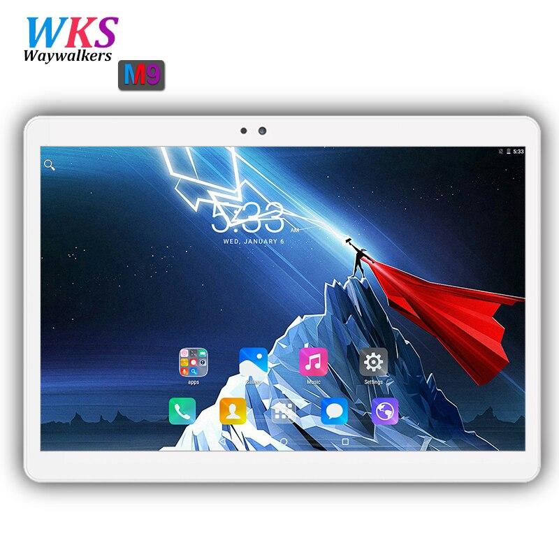 La russie 10.1 pouce tablet pc Octa base Android 7.0 RAM 4 gb ROM 64 gb 1920*1200 IPS Double SIM carte comprimés pcs 10 10.1 Livraison Gratuite