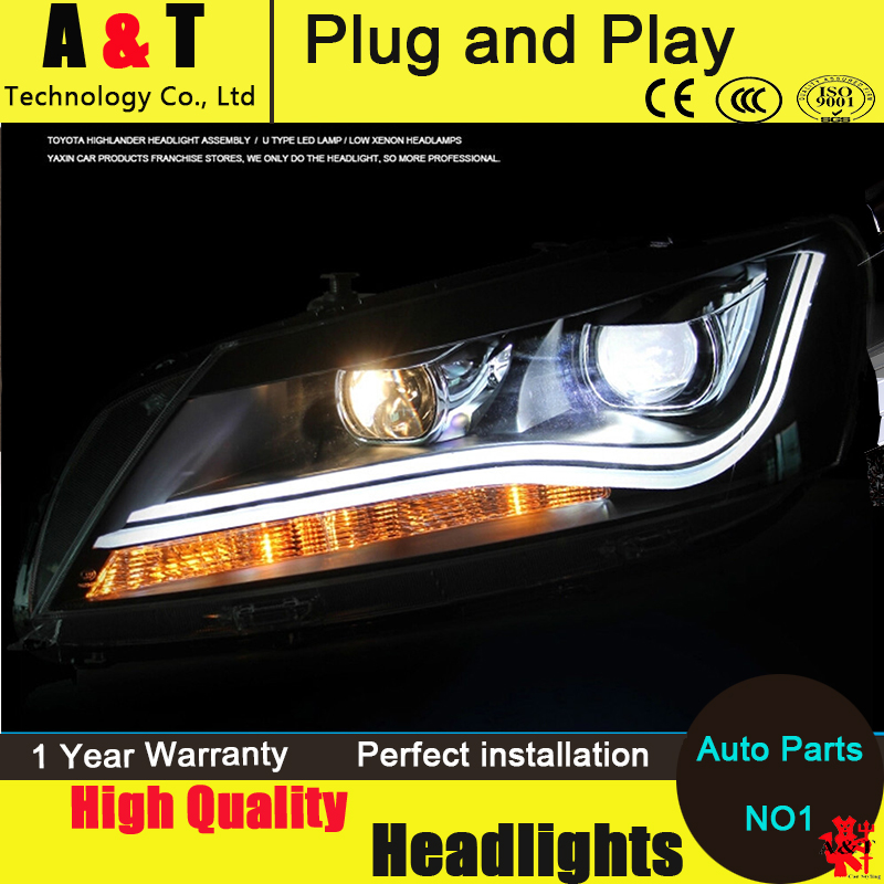 Car Styling LED Head Lamp for VW Passat B7 led headlight assembly 2012-2014 US Type Volks Wagen drl H7 with hid kit 2pcs. car styling head lamp for bmw e84 x1 led headlight assembly 2009 2014 e84 led drl h7 with hid kit 2 pcs