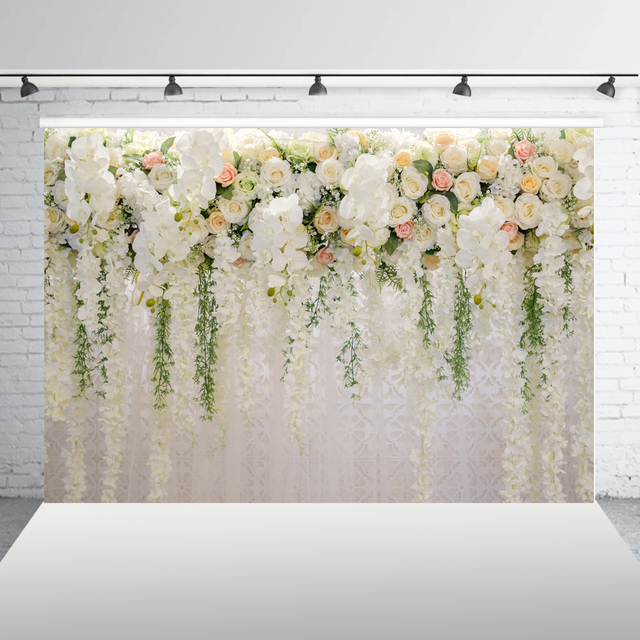 Photography Backdrops floral Wedding Backdrop for party paper flower photo booth studio Background XT-6749