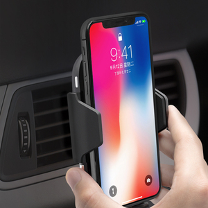 Image 2 - QI voiture chargeur sans fil capteur infrarouge support de montage charge rapide pour iPhone XS Max XR X Samsung Galaxy Note 10 9 S10 Plus S9 S8