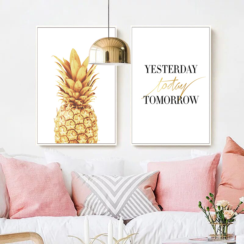Pink-Ananas-Posters-Plants-Pineapple-Wall-Art-Pictures-Nordic-Canvas-Landscape-Painting-Modern-Living-Room-Print (2)