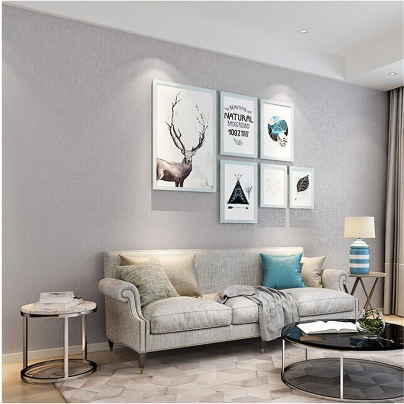 plain background modern wall simple bedroom living tv pure nordic restaurant wallpapers beibehang