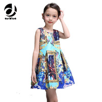 New Arrived Milan Creations Baby Girl Dress Sleeveless Kids Dresses For Girls Princess Dress Vestidos De