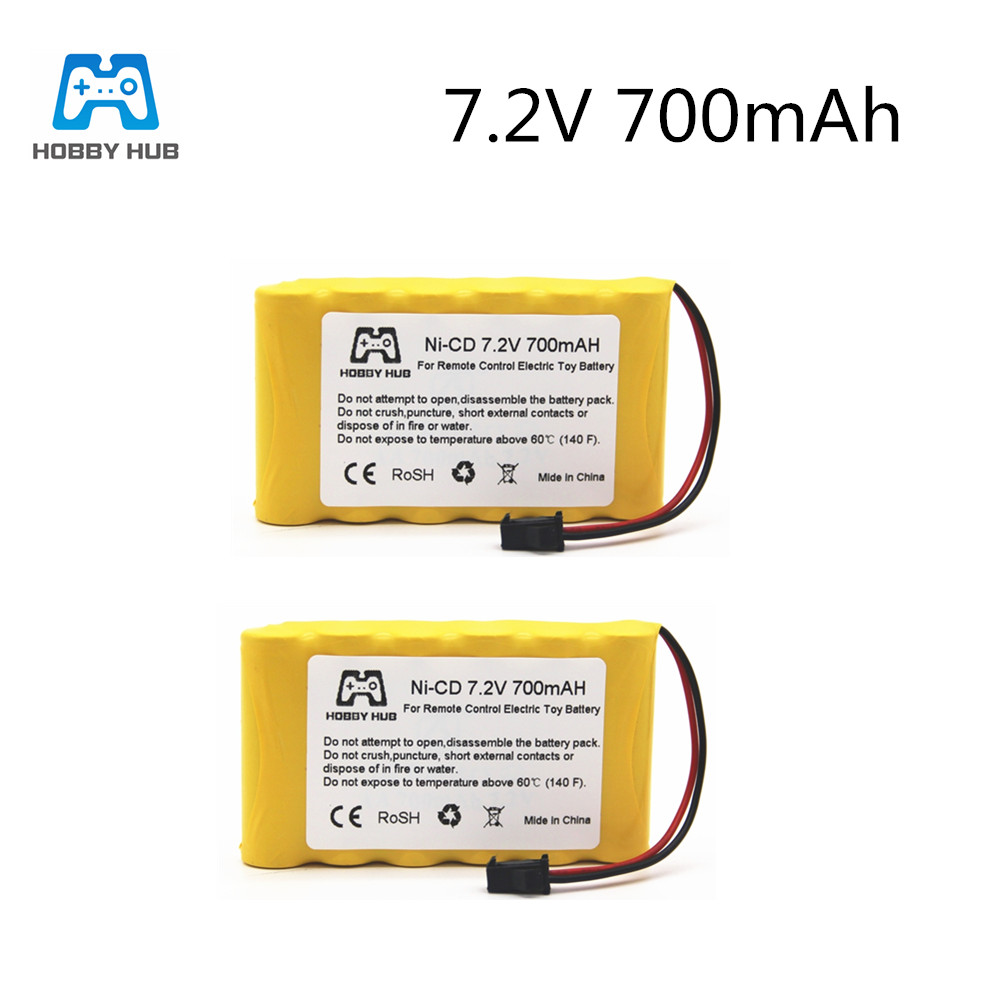NI-CD 7.2V 700mAH AA rechargeable <font><b>battery</b></font> for rc car Tank Telerobot boat Remote control electric toys nicd aa <font><b>7.2</b></font> <font><b>v</b></font> <font><b>battery</b></font> image