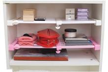 1PC Multifunctional Telescopic Layered Rack Kitchen Storage Shelf Wardrobe Holder Telescopic Scope Storage Rack OK 0570