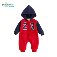 Autumn Winter Baby Romper Long Sleeve Cotton Patchwork Toddler Baby Boys And Girls Clothes Infant Jumpsuit