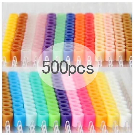 500 Pcs Pack 5mm Hama Toy Beads/ PUPUKOU Beads GREAT KID FUN.Diy Intelligence Educational Perler Toys Puzzles