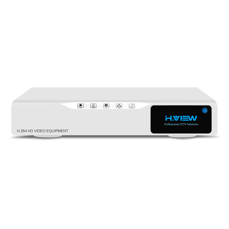 H.VIEW CCTV DVR 4ch H.264 AHD DVR NVR 4ch Digital Video Recorder for CCTV 1080P HDMI Video Output Support Analog AHD IP Camera