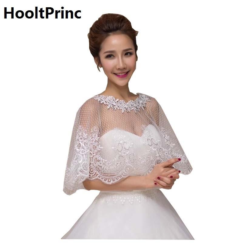 Hooltprinc white lace bead sequines bridal bolero wedding for White bolero for wedding dress